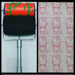 Roll cat motif.