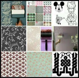 Roll pattern wallpaper