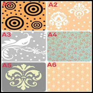 Roll pattern wallpaper2